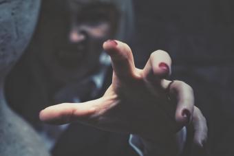Close-Up Of Vampires Hand