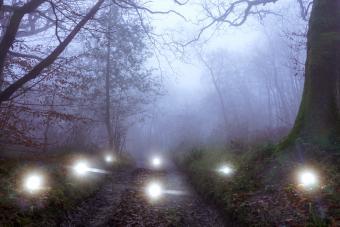 Glowing supernatural lights orbs