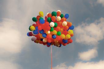 huge bunch of balloons