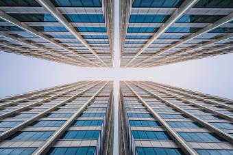 Office building, low angel view