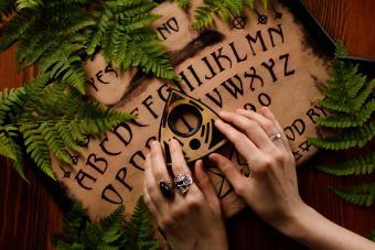 Mystic ritual with Ouija