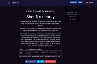 Screenshot of PastLife Website