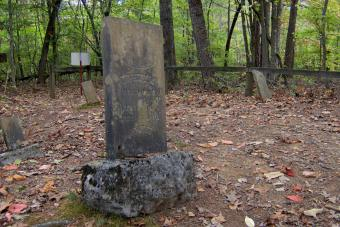 The grave of Maston Hutcheson (1826-1910) at Norton Cemetery in Union County, Tennessee