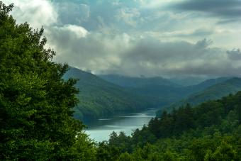 Fontana lake in Western North Carolina