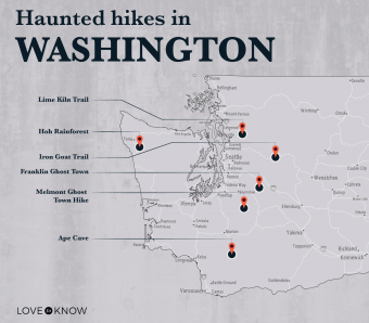 Map of Haunted Hikes in Washington