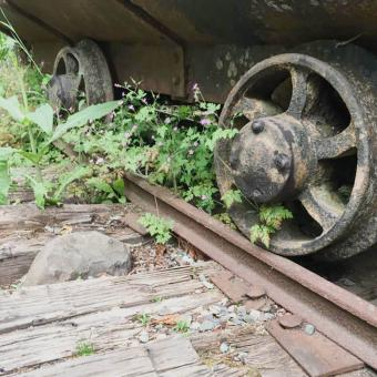 Railroad car at Franklin