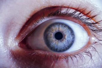 Scared woman's eye