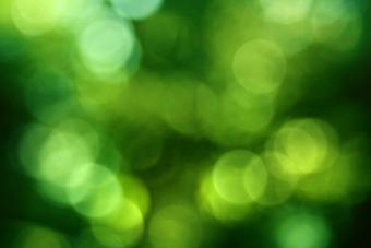 Green orbs floating