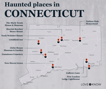 Map of Haunted Places in Connecticut