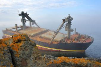 Hurricane Sinks Cargo Ship
