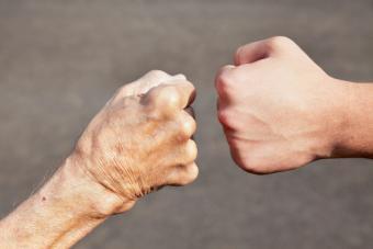 Grandpa and Grandson Imminent Fist Bump