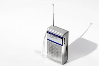 Old portable transister antenna radio