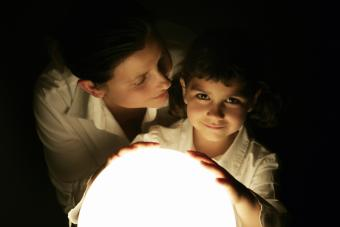Mother and daughter sharing a magic moment