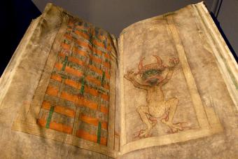 Drawing from Codex Gigas (the Devil's Bible)