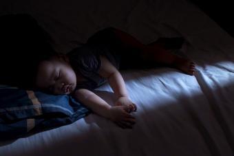 Baby boy is sleeping at night