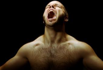 Man in agony