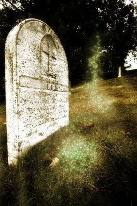 Ghostly Orbs seen in a graveyard