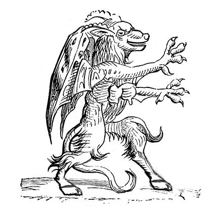 Jersey Devil woodblock