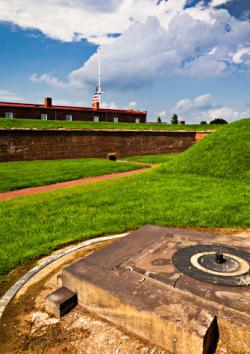 Clouds over Fort McHenry in Baltimore, Maryland