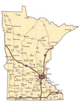Minnesota Road Map