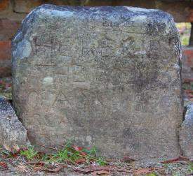 Agnes of Glasgow's grave stone