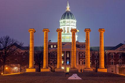 Columns in front of University of Missouri