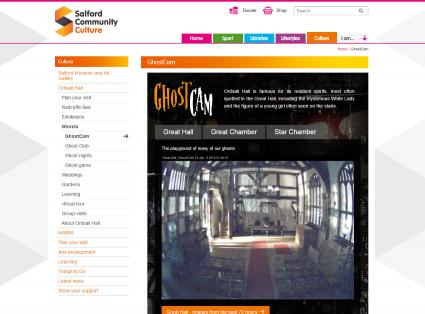 Screenshot of Ordsall Hall Ghost Cam