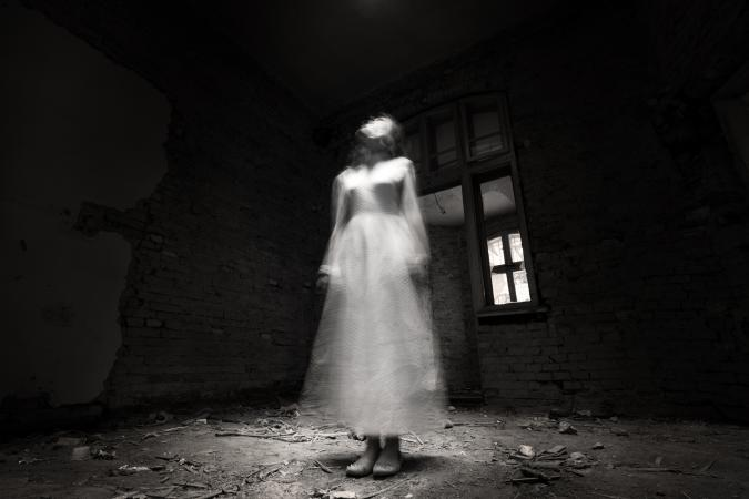 ghost in white dress