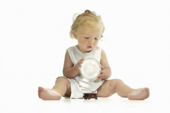 baby with crystal ball