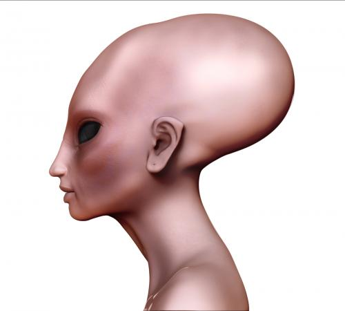 Alien woman elongated head