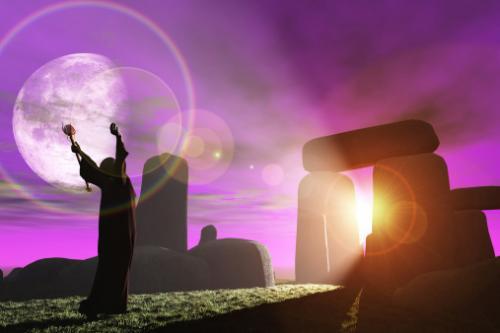 Druid greets the dawn