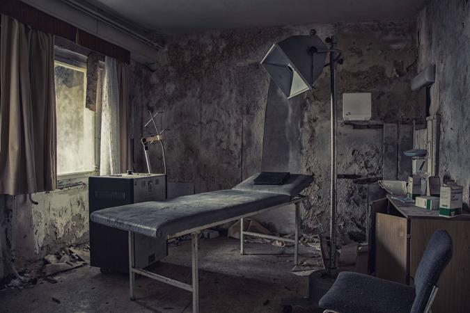 Abandoned operating room in hospital