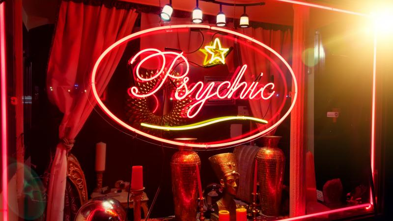 psychic parlor store window