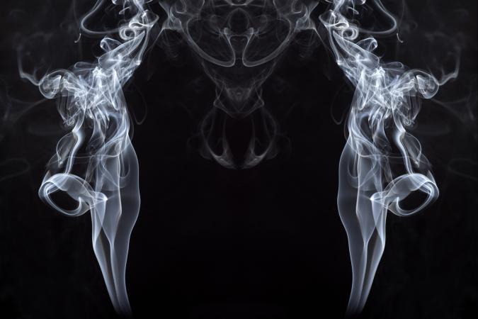 forms and figures of smoke