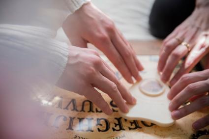Using a Ouija board