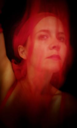 Woman with red aura