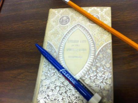 book pen and pencil