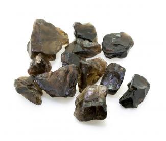 Raw smoky quartz rocks