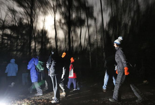 Eastern Trail moonlight hike in Kennebunk