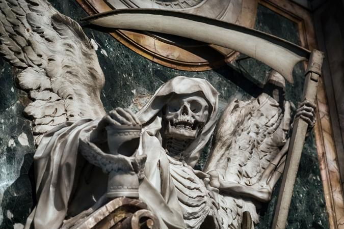 Allegorical skeletal representation of Death