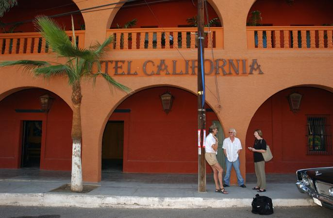 Hotel California in Todos Santos, Mexico
