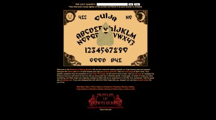 Screenshot of museumoftalkingboards website