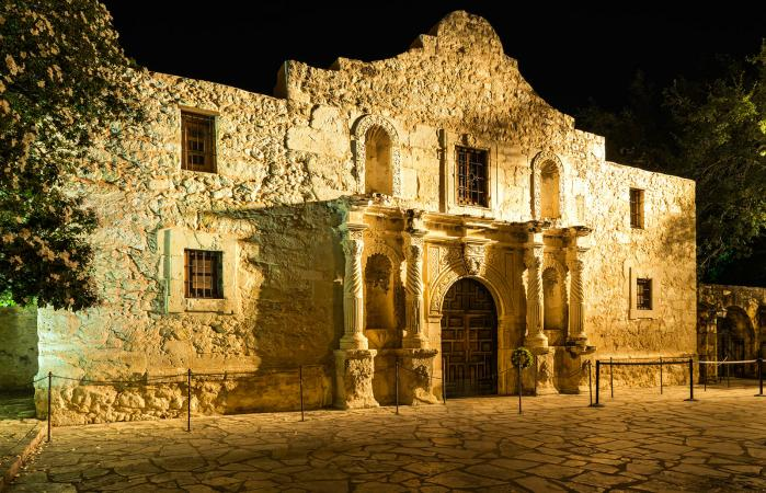 The Alamo in San Antonio, reportedly a haunted place