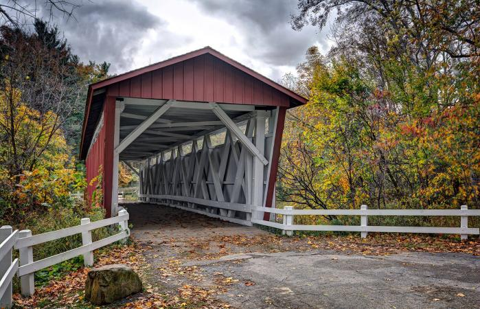 The Everett Road Covered Bridge