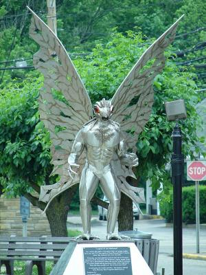 Legend of the Mothman scupture