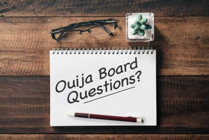 Pad with words Ouija Board Questions?