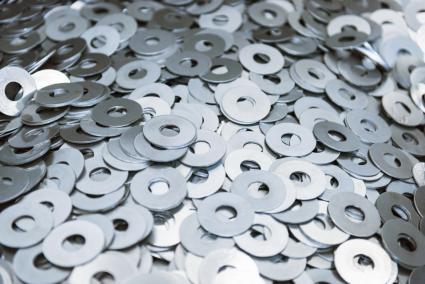 Cut metal washers