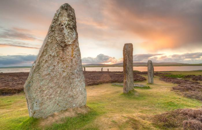 Ring of Brodgar ancient stones, Orkney, Scotland