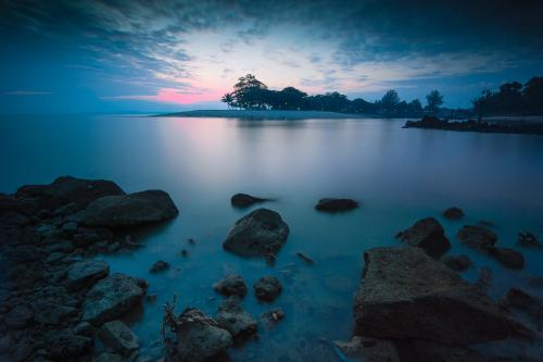 Changi Beach, Singapore at dawn