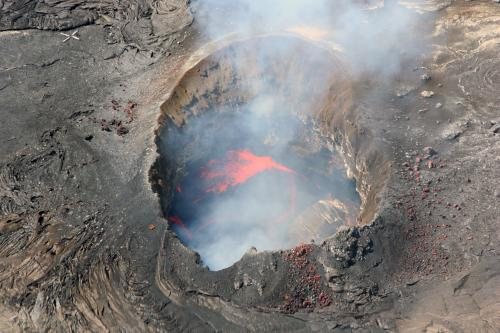 Hawaiian volcanic crater
